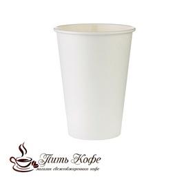 Бумажные стаканы 185 мл белый