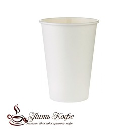 Бумажные стаканы 350 мл белый